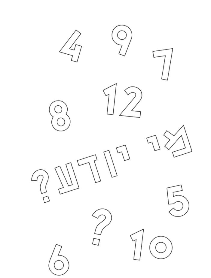 הגדה של פסח לילדים | למה לא סיפרתם לי | מספרים וצובעים